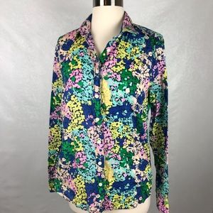 J Crew Factory Classic Button Down Shirt In Floral